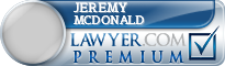 Jeremy John McDonald  Lawyer Badge