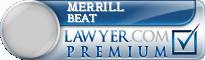 Merrill E. Beat  Lawyer Badge