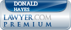 Donald F. Hayes  Lawyer Badge