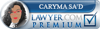 Caryma F Sa'd  Lawyer Badge