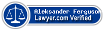 Aleksander Edward Ferguson  Lawyer Badge