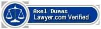Axel Jeremy Dumas  Lawyer Badge
