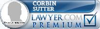 Corbin Scott Sutter  Lawyer Badge