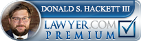 Donald S. Hackett  Lawyer Badge