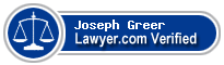Joseph Barton Greer  Lawyer Badge