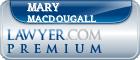 Mary E. MacDougall  Lawyer Badge