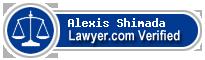 Alexis Shimada  Lawyer Badge