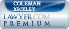 Coleman Beckley  Lawyer Badge