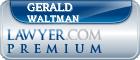 Gerald Waltman  Lawyer Badge