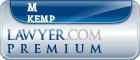 M Mark Kemp  Lawyer Badge