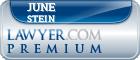 June Stein  Lawyer Badge