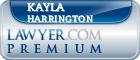 Kayla Harrington  Lawyer Badge