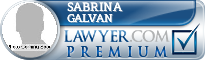 Sabrina Galvan  Lawyer Badge