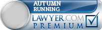Autumn Running  Lawyer Badge
