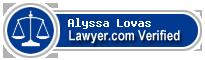 Alyssa L. Lovas  Lawyer Badge