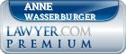 Anne Karen Wasserburger  Lawyer Badge