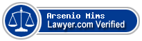 Arsenio Lenell Mims  Lawyer Badge