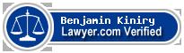 Benjamin John Kiniry  Lawyer Badge