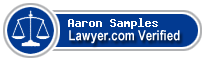Aaron Clark Samples  Lawyer Badge