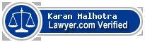 Karan Malhotra  Lawyer Badge