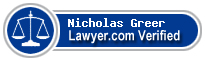 Nicholas Michael Greer  Lawyer Badge