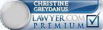 Christine Mary Greydanus  Lawyer Badge
