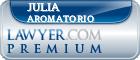 Julia Aromatorio  Lawyer Badge