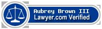 Aubrey Hampton Brown III  Lawyer Badge