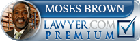 Moses V. Brown  Lawyer Badge