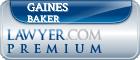 Gaines C Baker  Lawyer Badge