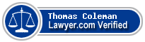 Thomas A Coleman  Lawyer Badge