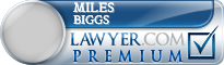 Miles G Biggs  Lawyer Badge