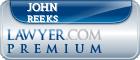 John F Reeks  Lawyer Badge