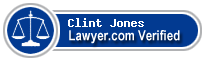Clint Jones  Lawyer Badge