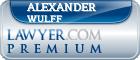 Alexander Louis Wulff  Lawyer Badge