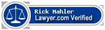 Rick L. Mahler  Lawyer Badge