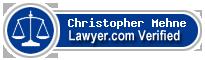 Christopher G Mehne  Lawyer Badge
