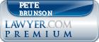 Pete Anthony Brunson  Lawyer Badge