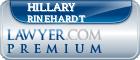 Hillary Rinehardt  Lawyer Badge