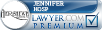 Jennifer Hosp  Lawyer Badge