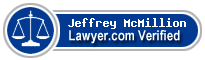 Jeffrey Tyler McMillion  Lawyer Badge