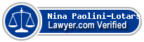 Nina Paolini-Lotarski  Lawyer Badge