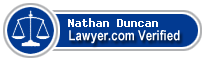 Nathan Arvel Duncan  Lawyer Badge