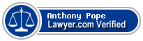 Anthony M Pope  Lawyer Badge