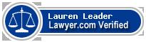 Lauren E. Leader  Lawyer Badge
