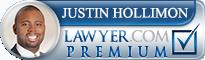 Justin M. Hollimon  Lawyer Badge