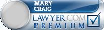Mary D Craig  Lawyer Badge