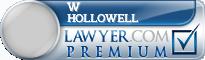 W Douglas Hollowell  Lawyer Badge