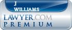 J William Williams  Lawyer Badge