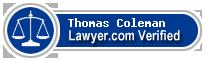 Thomas A Coleman  Lawyer Badge